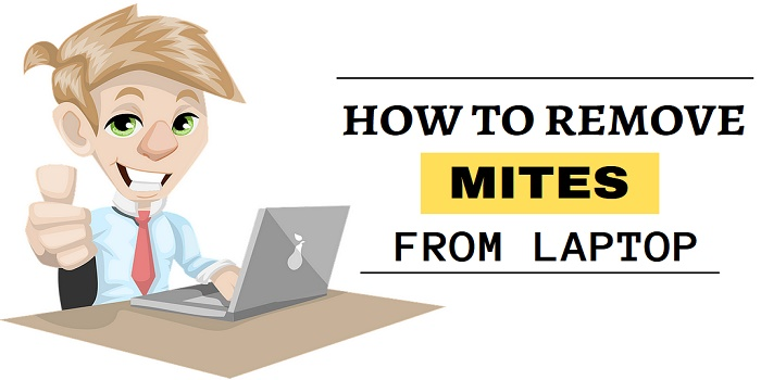 how to remove mites from laptop